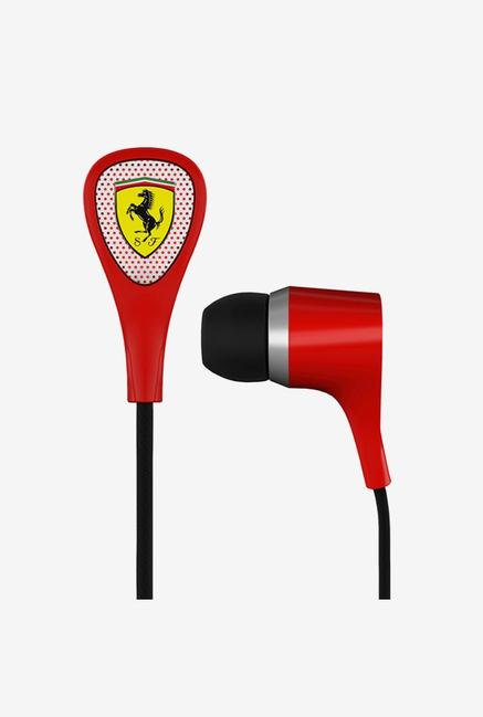 Ferrari S 100 In the Ear Headphone Red