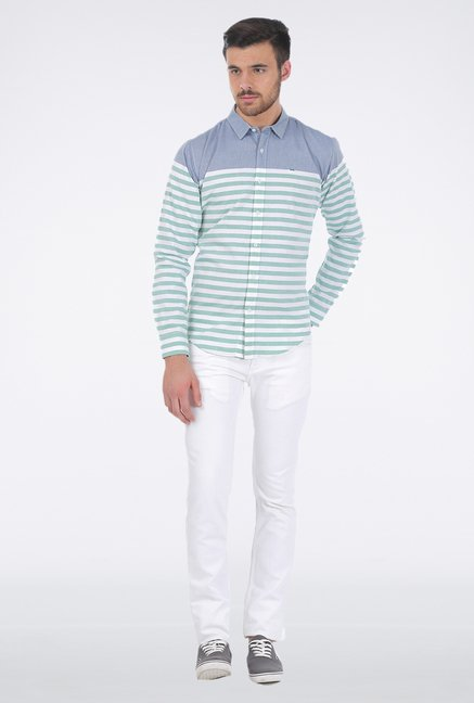 Basics Green Stripe Shirt