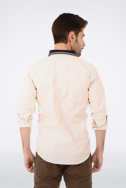 Basics Beige Oxford Weave Shirt