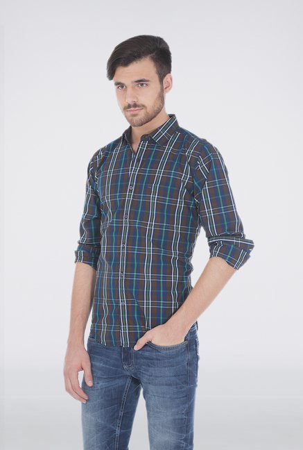 Basics Green Plaid Shirt