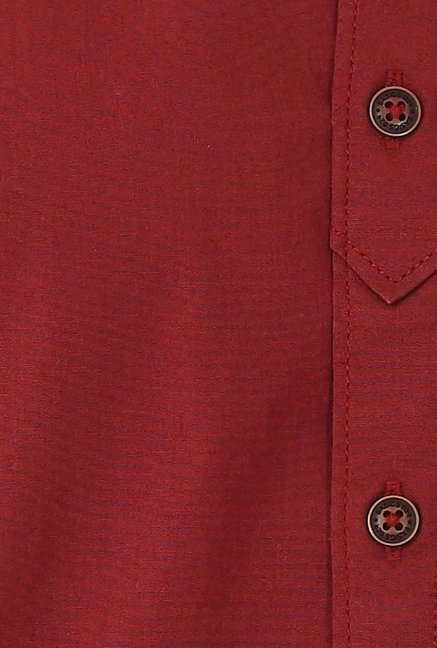 Basics Red Cotton Casual Shirt
