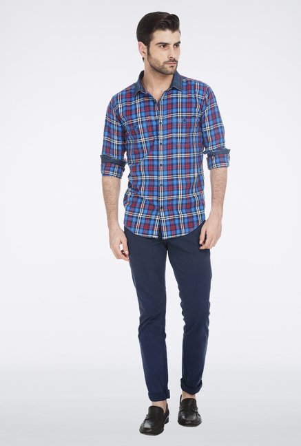 Basics Blue Plaid Shirt