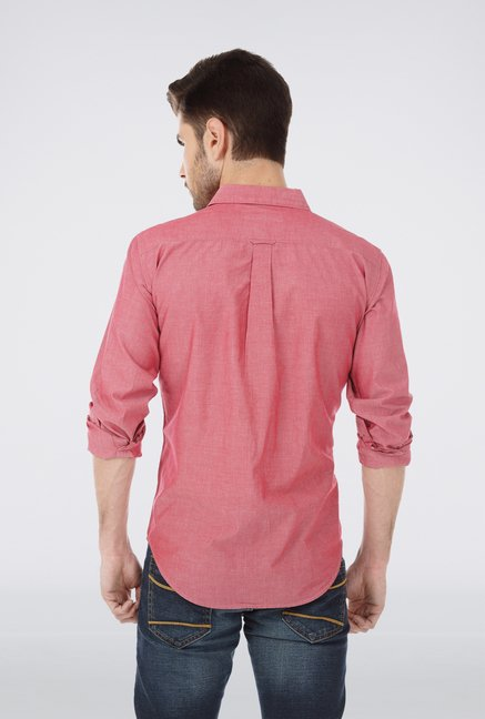 Basics Red Chambray Cotton Shirt