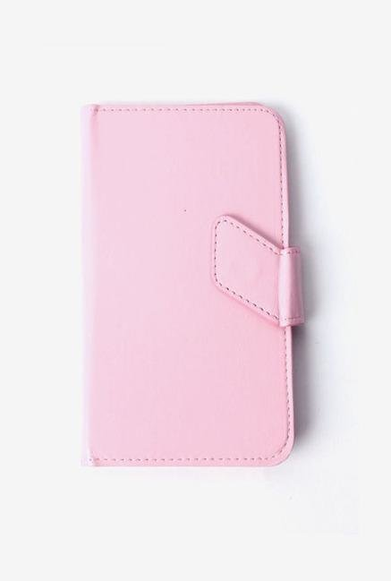 Callmate Stand Sticker Flip Cover Pink For Micromax A84