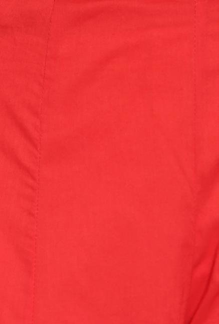 Soch Red Solid Cotton Palazzo