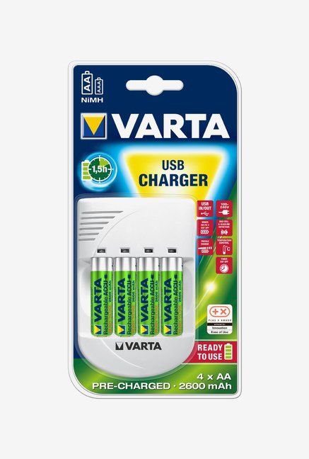 Varta 57048 USB Battery Charger White