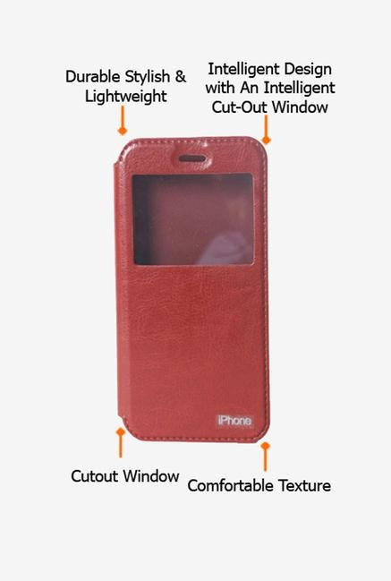 Callmate Window Flip Cover for iPhone 6/6S Brown