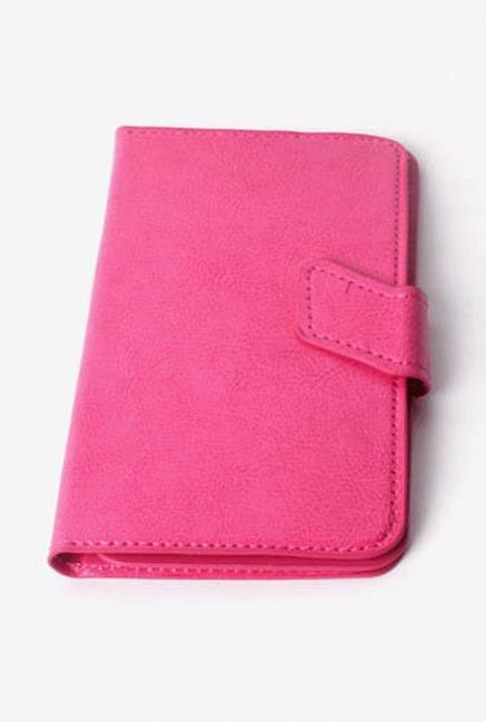 Callmate Stand Sticker Flip Cover for Karbonn A50s Dark Pink