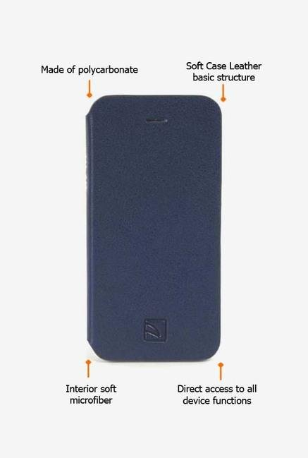 Tucano Libretto IPH5LIPB iPhone 5 Flip Case Blue