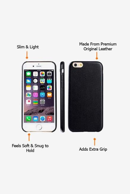 Callmate Leather Touch Back Case for iPhone 6 Plus Black