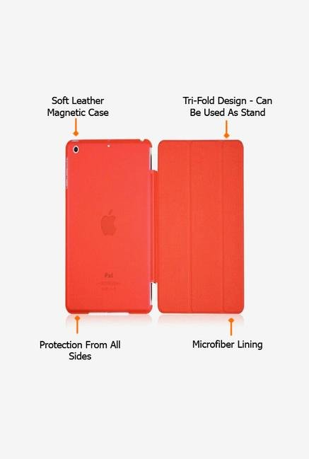 Callmate Magnetic Smart Flip Cover for Ipad 2/3 Red