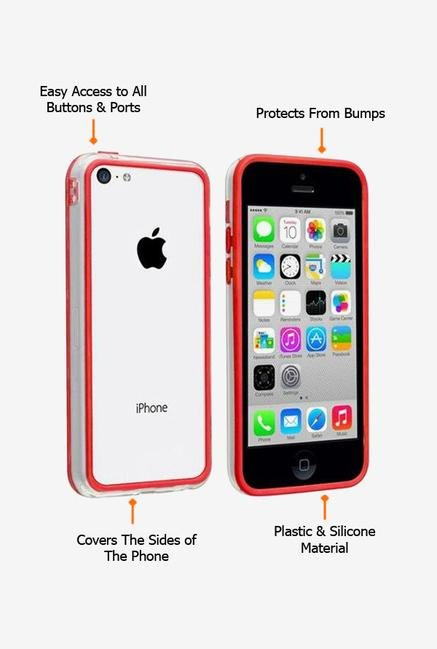 Callmate Bumper Case Red for iPhone 4/4S