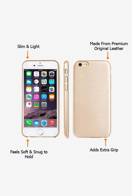 Callmate Leather Touch Back Case for iPhone 6 Plus Gold