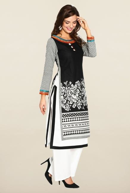 Soch Black & White Jacquard Suit Set