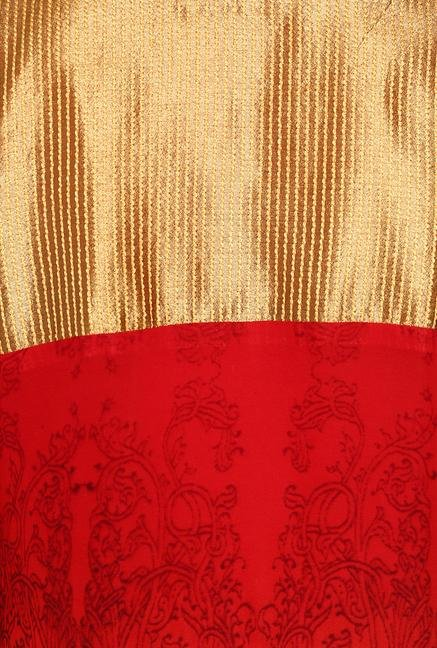 Soch Red & Gold Georgette Suit Set