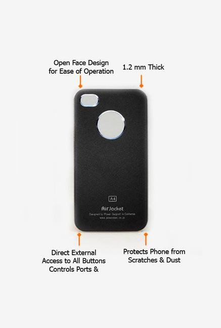 Callmate Air Jacket Back Case for iPhone 4/S Black