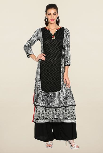 Soch Black & White Georgette Suit Set