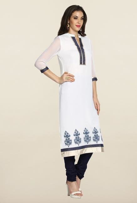 Soch White & Navy Blue Suit Set