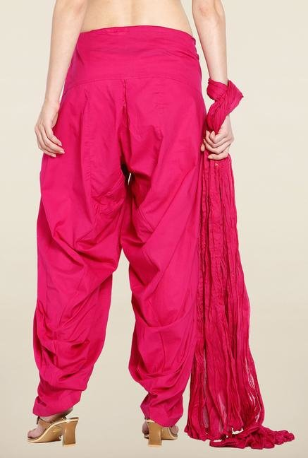Soch Wine Solid Patiala Dupatta Set