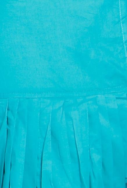 Soch Turquoise Solid Patiala Dupatta Set