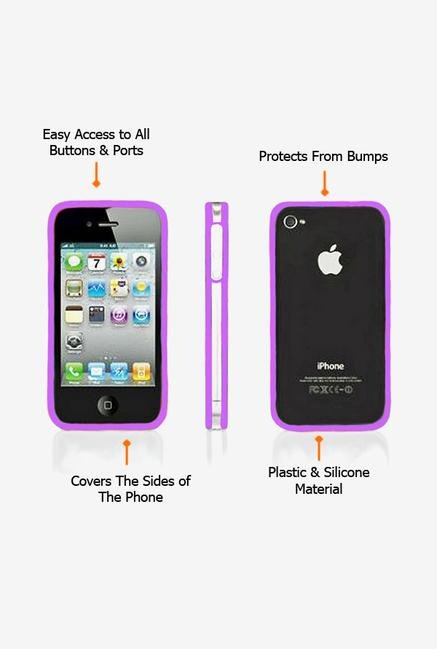 Callmate Bumper Case Purple for iPhone 4/4S