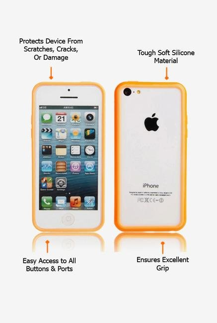 Callmate Bumper Case Orange for iPhone 5C