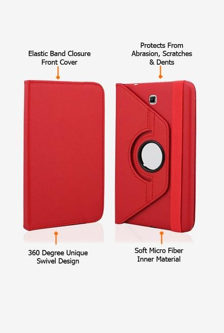Callmate Rotation Case Red for Samsung Galaxy Tab 4