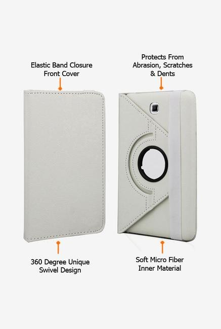 Callmate Rotation Case White for Samsung Galaxy Tab 4