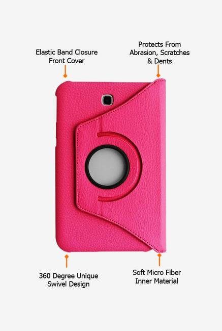 Callmate Rotation Case Pink for Samsung Galaxy Tab 3