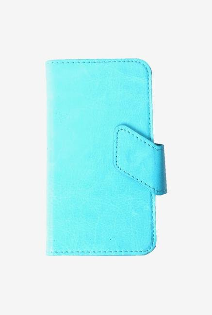 Callmate Stand Sticker Flip Cover Sky Blue for Micromax A91