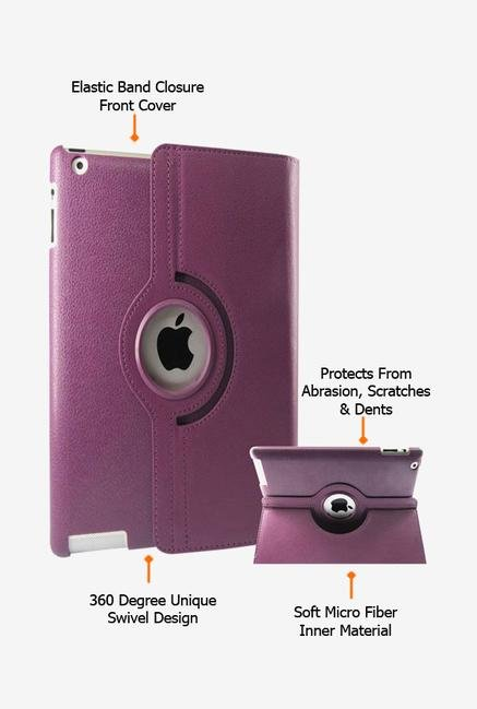 Callmate Rotation Case Purple for iPad 2/3/4
