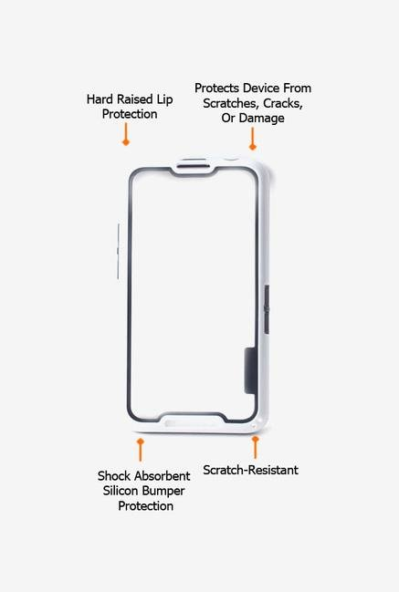 Callmate Bumper Solid Case White for BlackBerry Z30