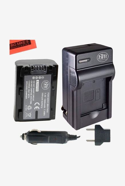 Big Mike S Replacement Np-Fh50 Battery + Charger For Sony Alpha