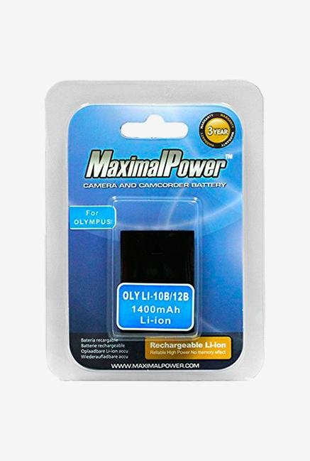 Maximal power Li-10B Li-12B Battery For Olympus Stylus Digital - Black
