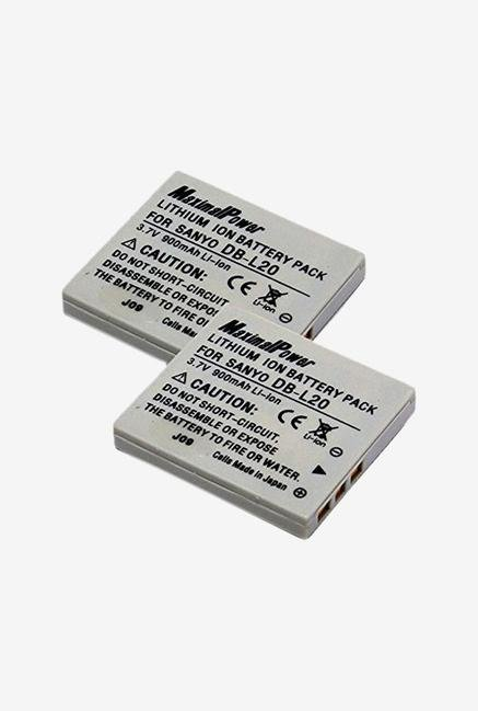 Maximal Power Db Db San Db-L20 X2 2Pcs Maximal power Replacement Battery Camera - Black