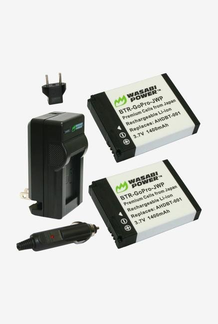 Wasabi Power Battery 2-Pack And Charger For Gopro - Black