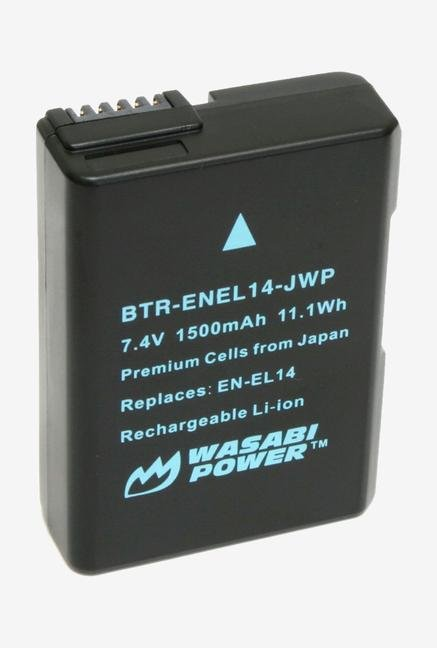 Wasabi Power Battery (2-Pack) And Charger For Nikon En-El14, En-El14A And Nikon