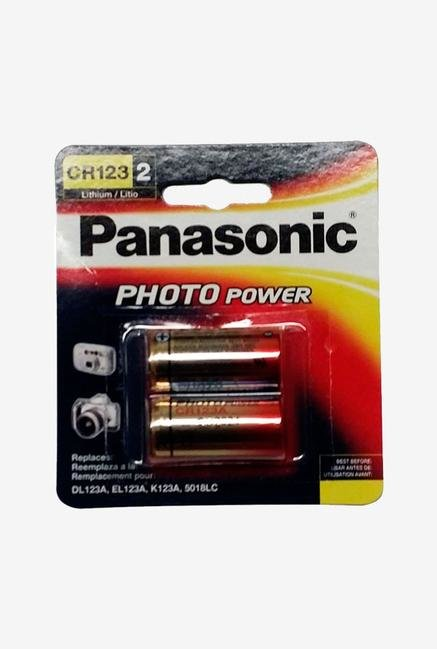 Panasonic Photo Power Cr-123Apa/2B Lithium Batteries - Gold