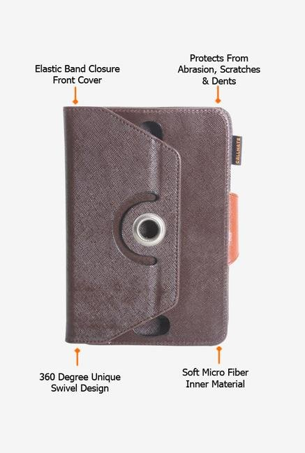Callmate Rotation Cover Coffee Universal for 7 inch Tablet