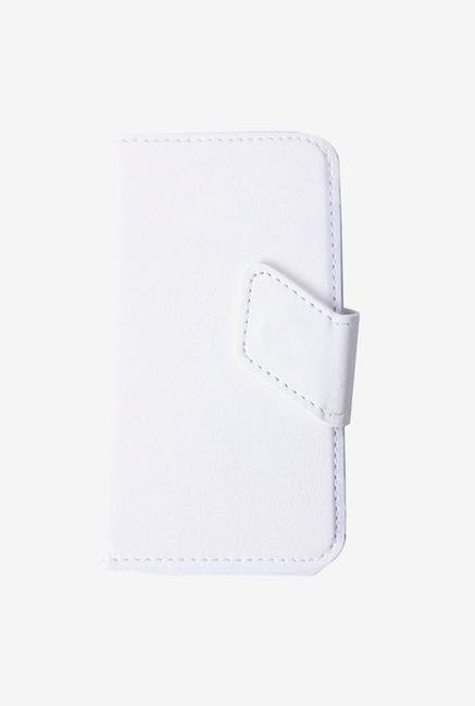 Callmate Stand Sticker Flip Cover White For Micromax A84