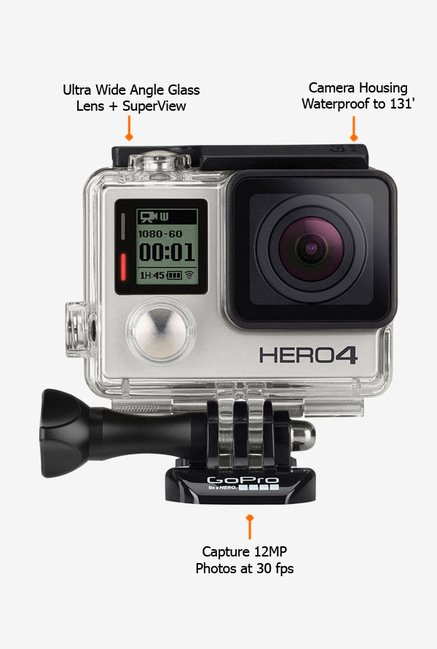 GoPro HERO 4 CHDHY401EU Action Camcorder Silver