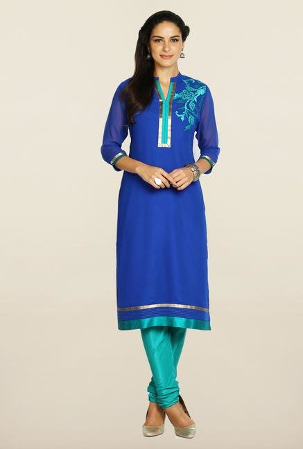 Soch Royal Blue & Teal Georgette Suit Set