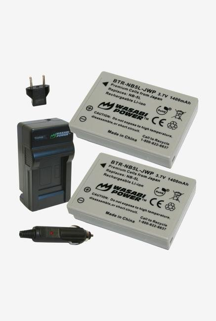 Wasabi Power Kit-Btr-Nb5L-Lch-Nb5L-01 Battery (2-Pack)/Charger For Canon Nb-5L And Canon Powershot