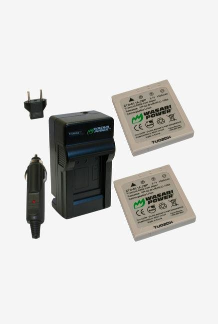 Wasabi Power Kit-Btr-Dl18-Lch-Np40-02 Battery (2-Pack) And Charger For Pentax