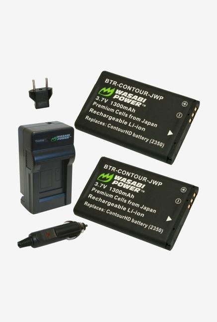 Wasabi Power Kit-Btr-Contour-Lch-Contour-01 Battery (2-Pack) And Charger For Contour
