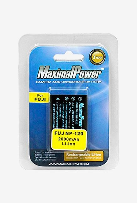 Maximal power 2000Mah Battery For Fuji Np120, Pentax Dl17 And The Kyocera-Contax Bp1500