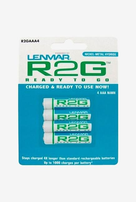 Lenmar Ready-2-Go R2Gaaa4 1.2V 850Mah Rechargeable Nimh Aaa Battery 4 Pack - Blue