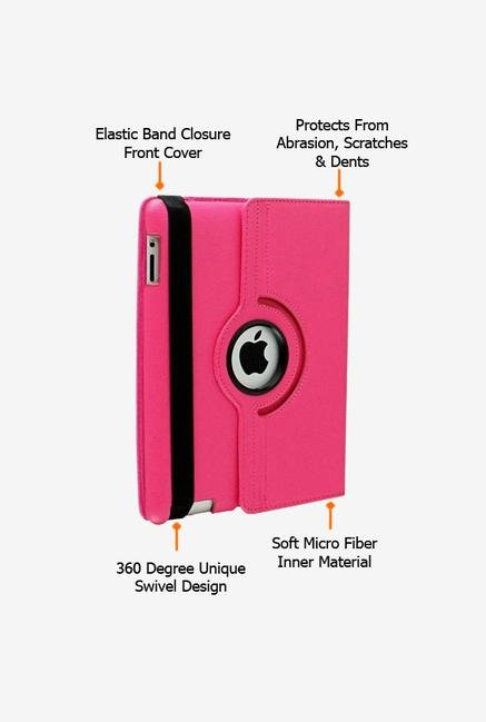 Callmate Rotation Case Pink for iPad 2/3/4