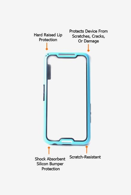 Callmate Bumper Solid Case Sky Blue for BlackBerry Z30