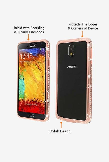 Callmate Bumper Diamond Case Rose Gold for Samsung Note 3